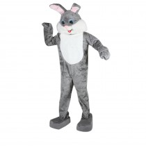 Rabbit Complete (Grey) Mascot Adult Costume - One-Size
