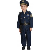 Police Officer Deluxe Toddler Costume - Toddler (4T)