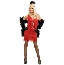 Fashion Flapper (Red) Adult Plus Costume - 1X