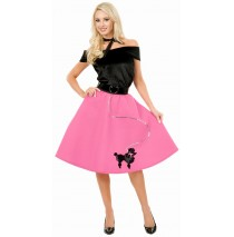 Pink Poodle Skirt Adult Plus Costume - 3X (26-30)