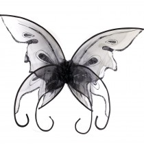 Black Butterfly Wings - One Size