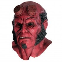 Hellboy 2 Hellboy Deluxe Overhead Latex Mask - One Size