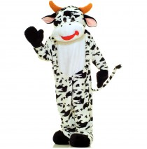 Cow Plush Economy Mascot Adult Costume - One-Size