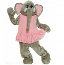 Elephant Plush Economy Mascot Adult Costume - One-Size