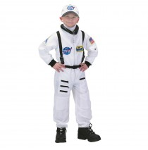 NASA Jr. Astronaut Suit White Toddler/Child Costume - Medium (8-10)