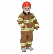 Jr. Fire Fighter Suit Tan Toddler Costume - 18 Months