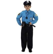 Jr. Police Officer Suit Child Costume - Small (4-6)