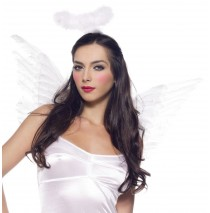 White Deluxe Feather Angel Accessory Kit (Adult) - One-Size