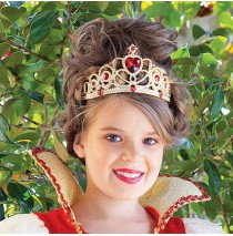 Red and Gold Princess Child Tiara - One-Size