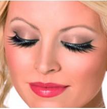 Eyelashes with Black Crystals - One-Size