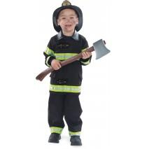Firefighter Black Child Costume - 2-4