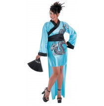 Dragon Geisha Adult Plus Costume - X-Large (18-20)