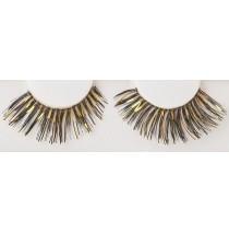 Black/Gold Eyelashes - One-Size