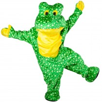 Deluxe Plush Frog Mascot Adult Costume - One Size