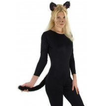 Black Cat Ears and Tail  - One-Size