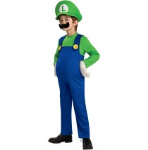 Super Mario Bros. - Luigi Deluxe Toddler / Child Costume - Medium (8/10)