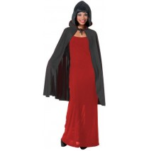 Cape with Collar (Black) Adult - One-Size