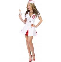 Say Ahhh! Sexy Nurse Adult Costume - Small/Medium (2-8)