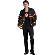 Smokin' Hot Fire Department Man Adult Costume - Medium