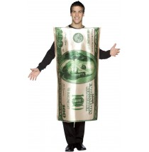$100 Bill Adult Costume - One Size Fits Most Adults