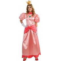 Super Mario Bros. - Deluxe Princess Peach Adult Costume - Large