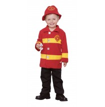 Brave Firefighter Toddler Costume - Toddler (2T-4T)