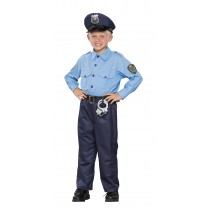 Deluxe Policeman Child Costume - Small (4-6)