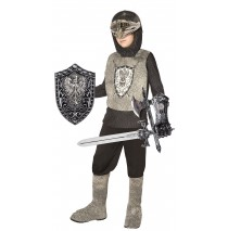 Knight (Silver) Child Costume Kit - One Size (Fits Sizes 4-8)