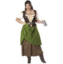 Tavern Maiden Adult Plus Costume - 2X (18-20)