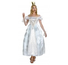 Alice Through the Looking Glass - White Queen Deluxe Adult Costume - Small (4-6)