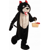 Wolf Mascot Adult Costume - Standard One-Size
