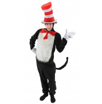Dr. Seuss The Cat in the Hat - The Cat in the Hat Deluxe Adult Costume - S/M (6-8)