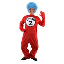 Dr. Seuss The Cat in the Hat - Thing 1 and Thing 2 Adult Costume - S/M (6-8)