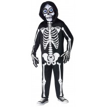 Fright Light Skeleton Child Costume - Medium (8/10)