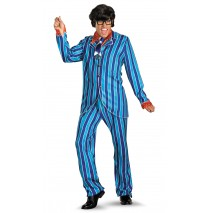 Austin Powers Carnaby Street Blue Suit Deluxe Adult Costume - X-Large (42-46)