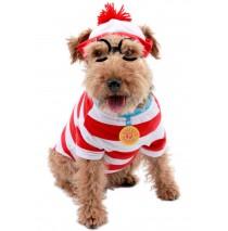 Where's Waldo Woof Pet Costume  - Medium