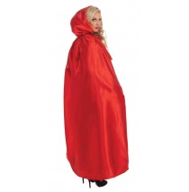 Fancy Masquerade Red Adult Cape - One-Size