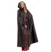 Fancy Masquerade Black Adult Cape - One-Size