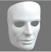 White Face Adult Mask - One-Size
