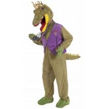 Mardi Gras Alligator King Adult Costume - Standard