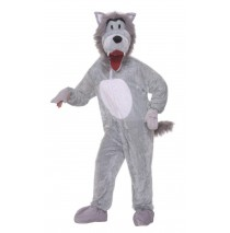 Story Book Wolf Plush Adult Costume - Standard