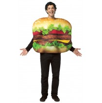 Cheeseburger Adult Costume - One-Size (Standard)