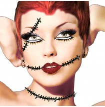 Xotic Eyes Corpse Eyes and Neck Scar Kit - One-Size