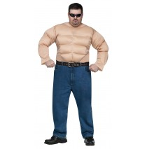Muscle Chest Shirt Adult Plus Costume - One-Size (Plus)