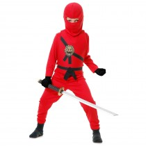 Red Ninja Child Costume - X-Small (4/6)