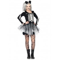 Sassy Skeleton Teen Costume - Small/Medium