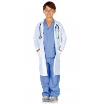 Doctor Scrubs with Lab Coat Child Costume - 6-8