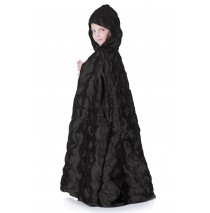 Black Pintuck Cape (Child) - One-Size