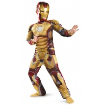 Iron Man 3 Mark 42 Classic Muscle Costume - Small (4-6)