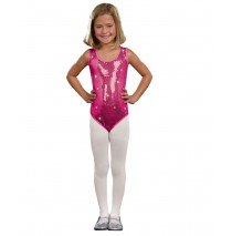 Kids Pink Sequin Leotard - Large